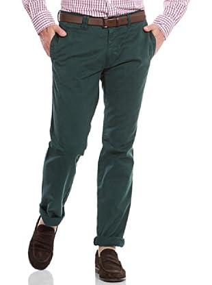 Cortefiel Pantalón Slim Chino (Verde Oscuro)