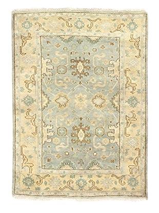 eCarpet Gallery One-of-a-Kind Hand-Knotted Royal Ushak Rug, Light Blue, 4' 2