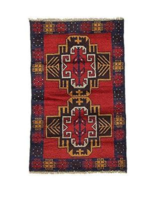 Eden Alfombra Beluchistan Rojo/Multicolor 82 x 130 cm