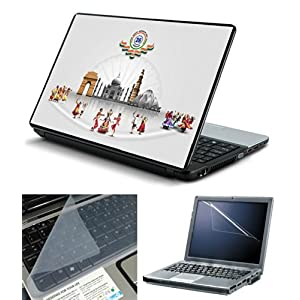 "FineArts 3 in 1 Laptop Skin Pack 15.6"" - Incredible India With Screen Guard and Keyboad Protector"