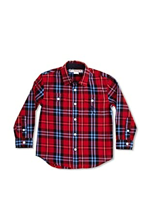 US Polo Assn Camisa Junior Jean (Rojo / Azul)
