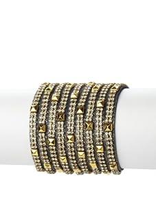 Presh Midnight Shimmer 3-Strand Studded Wrap Bracelet