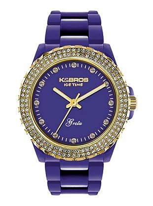 K&BROS 9552-4 / Reloj de Señora  con correa de plástico morado