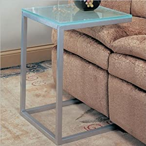 Coaster 900289 Sofa Table with Pewter and Glass Top