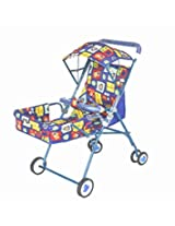 Taaza Garam Pram Stroller 2 positions sitting & lying - blue
