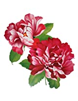 Extra large size red peony flower temporary tattoos 8.66 x8.07 Inches