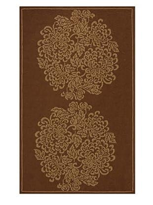 Momeni Veranda Collection Two-Tone Rug (Brown)