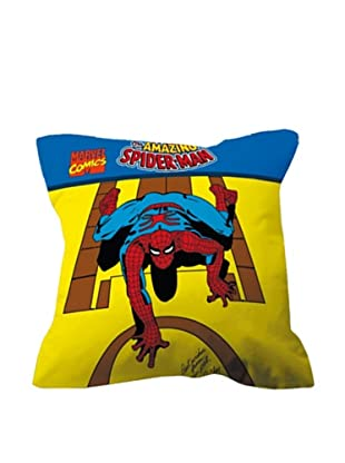 Euromoda Cojín Con Relleno Spiderman 1 (Amarillo / Azul)