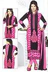 SGC Pink Cotton Printed unstitched churidar kameez NKT-2156