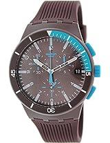 Swatch Purple Power SUSV400 Brown Round Dial Plastic Strap Analogue Watch - For Men