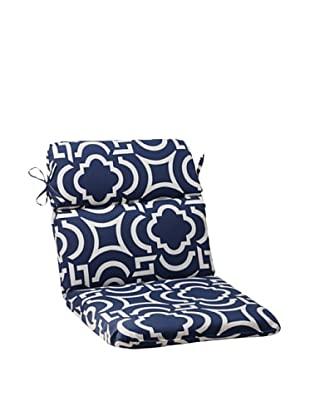 Pillow Perfect Outdoor Carmody Rounded Corner Chair Cushion, Navy