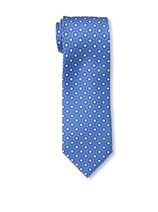 Battistoni Men's Golf Ball Printed Silk Tie, Navy