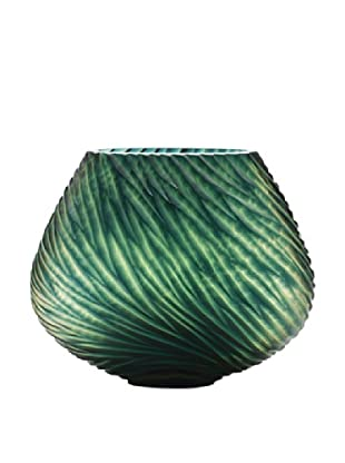 Dynasty Gallery Hand-Faceted Mouthblown Small Glass Vase (Green)