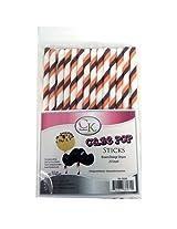 CK Products Cake Pop Sticks, 6-Inch, Brown/Orange