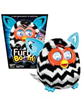 Hasbro Year 2013 Furby Boom Series 5 Inch Tall Electronic App Plush Toy Figure Black And White Zig Zag Stripes Pattern Furby