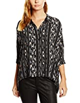 Vero Moda Women Solid Black Shirt