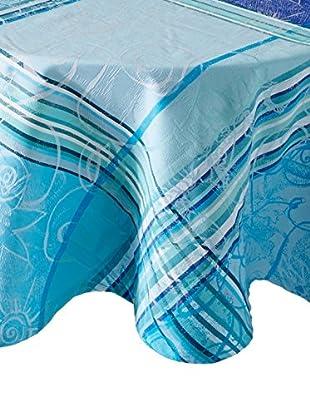Garnier-Thiebaut Mille Asters Tablecloth, Piscine