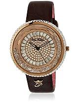 H Ph13575jsr/32 Brown/Rose Gold Analog Watch Paris Hilton