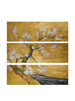 Legendarte Ölgemälde auf Leinwand Primavera Giapponese