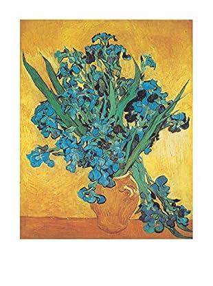 ArtopWeb Panel de Madera Van Gogh Gli Iris 31x39 cm