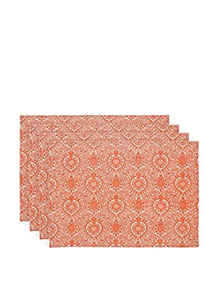 KAF Home Set of 4 Ankara Placemats, Orange