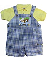 Good Lad Baby-boys Plaid Crusing Shortall with Short Sleeve Shirt