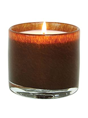 Alassis Set of 4 7.5-Oz. Art Glass Candles, Amber Vanilla, Brown