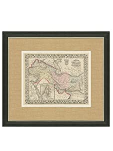 """Mitchell-Antique Map of Turkey & Persia, 1860's-1870's, 21"""" x 23"""""""