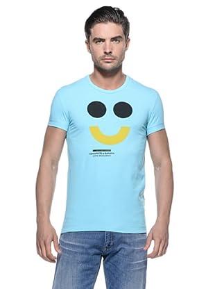 Love Moschino Camiseta Cara Feliz (Turquesa)