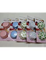 Bulfyss Fancy Color Muffin Paper Cups / Liners (Assorted Color / Prints) - 100 Pcs