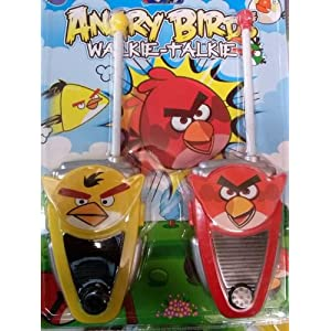 Angry Bird Walkie Talkie Set Battery Operated Gift Toy For Kids