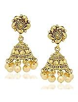 Jhumka Earrings For Women Girls in traditional Ethnic Pearl Earings By Meenaz J124