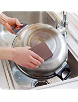 Magic Emery Sponge Brush Eraser Cleaner Kitchen Rust Cleaning Tool (size :L)