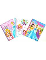 Disney Princess Poly Cover Spiral Notebooks 3 Assorted