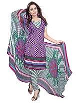 Shree Vardhman Purple Crepe Straight Unstiched Salwar Suit Dress Material
