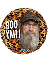 1 Balloon Foil New Duck Dynasty Uncle Cy Boo Yah !! Party Gift Any Occasion By Qualatex