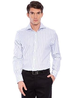 Hackett Camicia Righe (Bianco/Turchese)