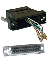 Offex OF-31D3-3740BK Modular Adapter, DB25 Female to RJ45, Black