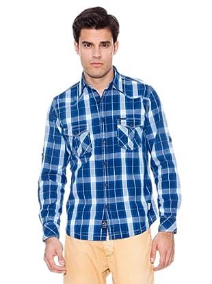 Pepe Jeans London Camisa Bigroar (Azul Marino / Celeste)