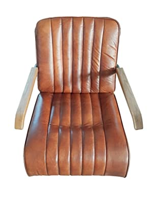 Mélange Home BMW 1930 Leather Armchair, Vintage Brown