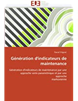 Generation D'Indicateurs de Maintenance (Omn.Univ.Europ.)