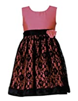 Peaches Girls' Dress (D-FPBL_Pink_12-13 Years)