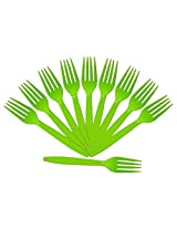 PrettyurParty Lime Green Plastic Forks (Pack of 10)