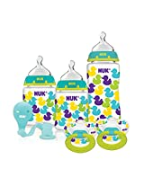NUK My First Nuk 0-6 Months Nature Design Starter Set Blue/Pink/Green