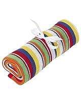 JoJo Maman Bebe Chunky Knit Striped Blanket