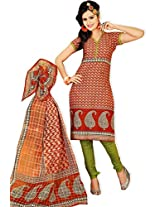 atisundar resplendent Orange Traditional Cotton Printed Salwar Suit- 4369_39_6049