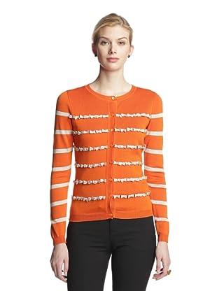 RED Valentino Women's Cardigan (Orange/Gold)