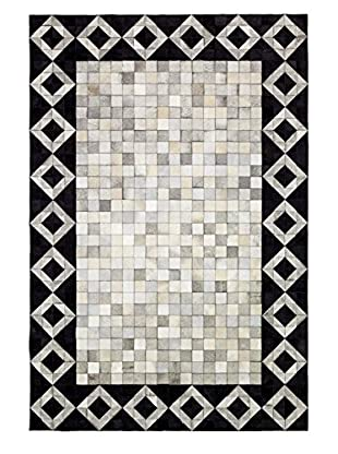 Solo Rugs Natural Cowhide Rug, Multi, 6' x 9'