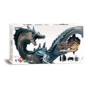 モンスターハンター3(トライ) スペシャルパック(「Wii(クロ)(「Wiiリモコンジャケット」同梱)」&「クラシックコントローラPRO(クロ)」同梱) 特典 モンスターヘッドフィギュア付き