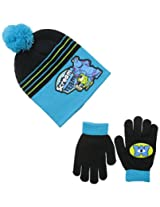 Berkshire Big Boys' Monsters University Mike and Sulley Pom Beanie and Glove Set